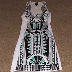 2B Bebe multi-color dress